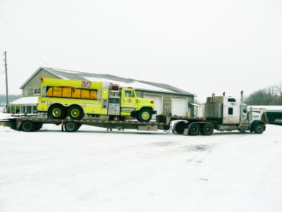 Delivery to Newald Volunteer Fire Department, Wisconsin