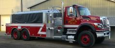 Firovac vacuum system installed on a department supplied IH 7400 chassis