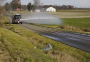Giving Fire Departments the Capability of Discharging Water while Driving up to 40 MPH.