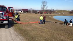 Long Hose Lay with Colerain Township Fire Department - Kingston, Ohio